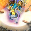 Powwow Dancer by Amatzia Baruchi