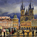 Prague Old Town Squere After Rain by Yuriy Shevchuk