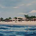 Praminade At Lido Beach by Mel Stauffer