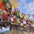 Prayer Flags In Happy Valley by Art Nomad Sandra  Hansen
