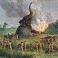 Prehistoric Mammoth Hunt by Granger