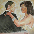 President Obama And First Lady by G Cuffia