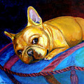 Princess And Her Pillow French Bulldog by Lyn Cook