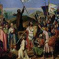 Procession Of Crusaders Around Jerusalem by Jean Victor Schnetz