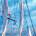 Profile Of A Sailboat by Jim Phillips