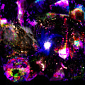 Psychedelic Rainbow Nebula Galaxy Universe by Abram Lopez