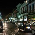Puebla At Night 1 by Lee Santa