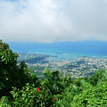 Puerto Plata Mountain View Of The Sea by Heather Kirk