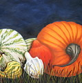 Pumpkin And Gourds by Ruth Bares