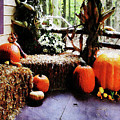 Pumpkins On Porch by Susan Savad
