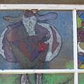 Purple Round Cow by Maggie Cruser
