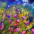 Purple Wild Flowers  by Pol Ledent