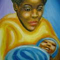 Q-mother And Child by Jan Gilmore