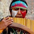 Quechuan Pan Flute Player by Al Bourassa