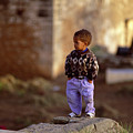 Rabat Kasbah Des Oudaias Little Boy Morocco by Antonio Martinho