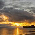 Rabbit Island Sunrise - Oahu Hawaii by Brian Harig