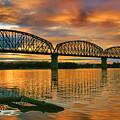 Railroad Bridge At Sunrise by Steven Ainsworth