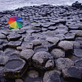Rainbow At Giant's Causeway by Merrill Miller