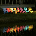 Rainbow Chairs  by Peg Urban