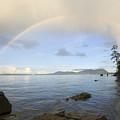 Rainbow Over Saturna Island by Kevin Oke