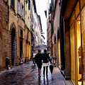 Rainy Day Shopping In Italy 2 by Nancy Bradley