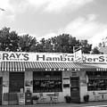 Ray's Diner Bandw by David Dunham