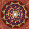 Realm Of The Desert Lotus Mandala by Elizabeth Alexander