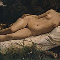 Recumbent Nymph by Anselm Feuerbach