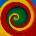 Red And Yellow Swirl by Krista Gagelman