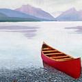 Red Canoe by Dillard Adams