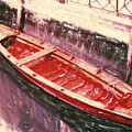 Red Canoe by Linda Scharck