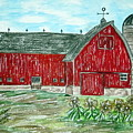 Red Country Barn  by Kathy Marrs Chandler