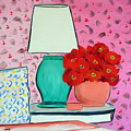 Red Flowers Pink Room by Troy Thomas
