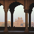 Red Fort From The Jama Masjid by Gloria and Richard Maschmeyer - Printscapes