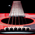 Red Guitar 16 by Andee Design