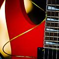 Red Guitar by Hakon Soreide