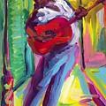 Red Guitar by Saundra Bolen Samuel