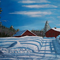 Red House In Winter by Ron Hamilton