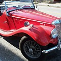 Red Mg Antique Car by Eric  Schiabor