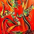 Red Nude by Mark Kazav