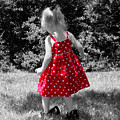 Red Polka Dot Dress And Mommy's Shoes by Tracie Kaska