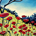 Red Poppies Under A Blue Sky by Elizabeth Robinette Tyndall