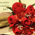 Red Roas Bouquet Jude 2 by Linda Phelps