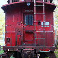 Red Sante Fe Caboose Train . 7d10476 by Wingsdomain Art and Photography