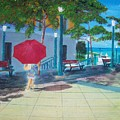 Red Umbrella In San Juan by Tony Rodriguez