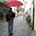 Red Umbrella by Joanne Riske