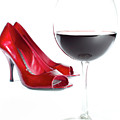 Red Wine Glass Red Shoes by Dustin K Ryan