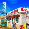 Red's Java House Electrified by Wingsdomain Art and Photography