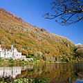 Reflection Of Kylemore Abbey Connemara Ireland by Pierre Leclerc Photography