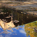 Reflection Of Montgomery Covered Bridge by John Burk